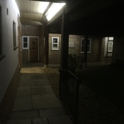 electrical outdoor lighting sutton manor nursing home 3